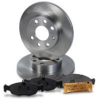 Bremsscheiben + Bremsbeläge Vorderachse VOLL