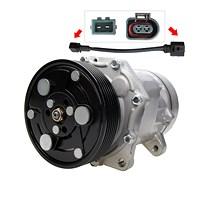 Kompressor Klimaanlage -STECKER OVAL / ECKIG