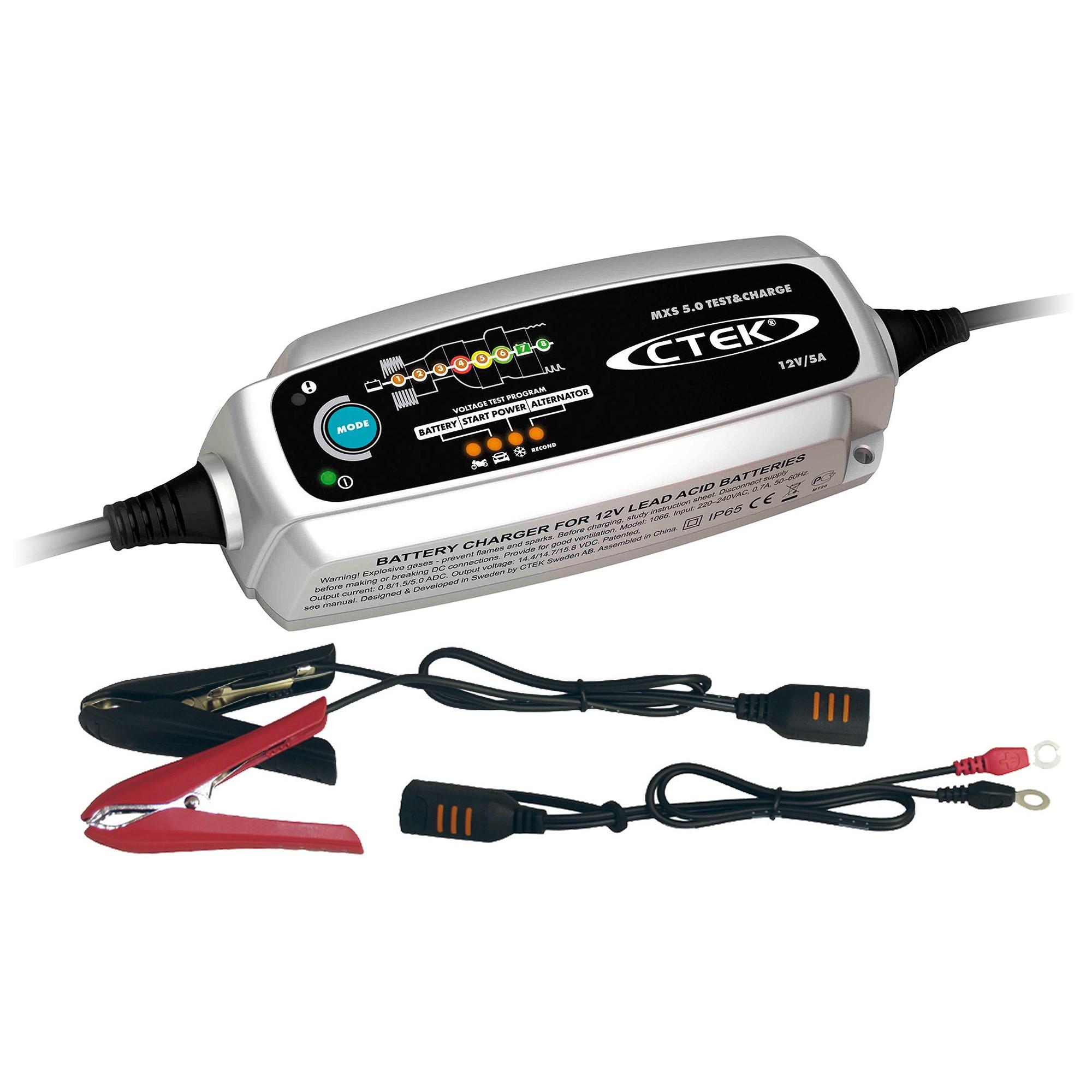 CTEK MXS 5.0 T & Ch Batterieladegerät 12V 0,85A
