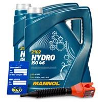 10 L Hydro ISO 46 Hydrauliköl + Ölwechsel-Anhänger + Einfülltrich