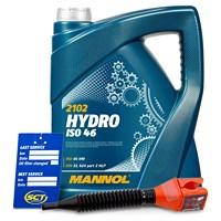 5 L Hydro ISO 46 Hydrauliköl + Ölwechsel-Anhänger + Einfülltricht