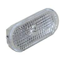 Blinker seitlich oval weiß ohne Lampenträger
