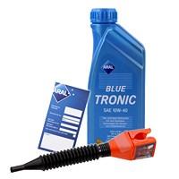 1 L BlueTronic 10W-40 + Ölw.-Anhänger + Trichter