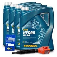 20 L Hydro ISO 46 Hydrauliköl + Ölwechsel-Anhänger + Einfülltrich